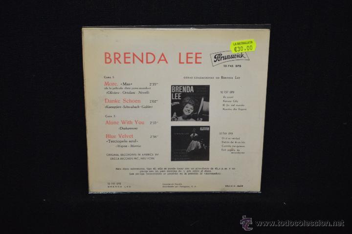 Discos de vinilo: BRENDA LEE - MORE +3 - DE LA PELICULA ESTE PERRO MUNDO - EP - Foto 2 - 47140108