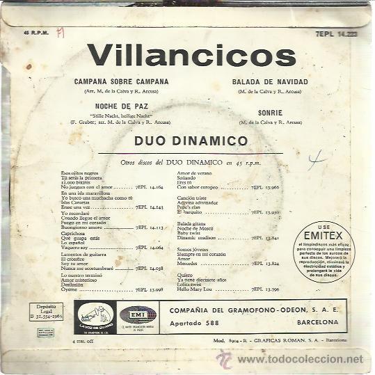 Imagenes De Villancicos Campana Sobre Campana.Duo Dinamico Ep 1965 Villancicos Campana Sobre Vendido En
