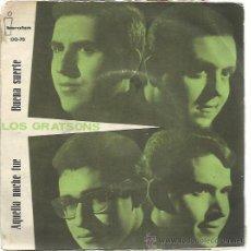 Discos de vinilo: LOS GRATSONS SG IBEROFON 1964 AQUELLA NOCHE FUE / BUENA SUERTE . Lote 47142254