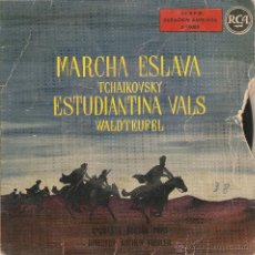 Discos de vinilo: VENDO SINGLE DE LA ORQUESTA BOSTON POPS (DIRECTOR ARTHUR FIEDLER). MARCHA ESLAVA DE TCHAIKOVSKY.. Lote 47142276