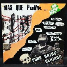 Discos de vinilo: VINILO LP - MAS QUE PUNK ... PARABELLUN - SKALOPE - ZER BIZIO - DISTORSIÓN - VOMITO - RADICAL H.C.. Lote 47154355