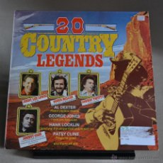 Discos de vinilo: 20 COUNTRY LEGENDS. BLACK TULIP. EDICION INGLESA. SIN FECHA. LITERACOMIC.. Lote 47157049