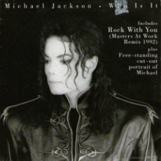 Discos de vinilo: MICHAEL JACKSON - SINGLE 7 EDITADO HOLANDA - WHO IS IT + ROCK WITH YOU - SPECIAL EDITIONS, EPIC 1992. Lote 47161930