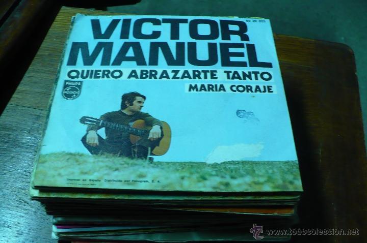 Discos de vinilo: victor manuel / quiero abrazarte tanto / maria coraje. - Foto 2 - 47180949