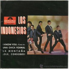 Discos de vinilo: LOS INDONESIOS EP POLYDOR 1965 I KNOW YOU/ UNA CHICA FORMAL/ +2 GARAGE BEAT MOD ALGUERO. Lote 47183695