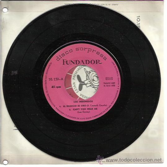 Discos de vinilo: LOS INDONESIOS EP FUNDADOR 1968 te vere en septiembre/ safe it for me +2 GARAGE BEAT MOD - Foto 2 - 47183750