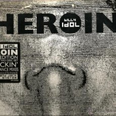 Discos de vinilo: MAXI BILLY IDOL : HEROIN (LIMITED EDITION WHITE VINYL 2 DISC SET - 9 SMACKIN DANCE & TRANCE MIXES. Lote 47185373