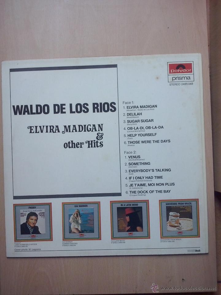 Discos de vinilo: waldo de los rios - elvira madigan & other hits - shocking blue, venus - polydor austria - Foto 2 - 47188315