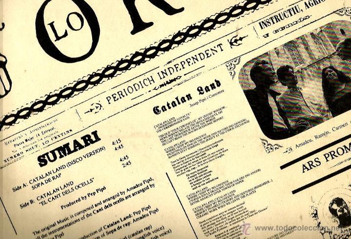 Discos de vinilo: MAXI ARS PROMISCUA : CATALAN LAND + SOPA DE RAP + EL CANT DELS OCELLS - Foto 2 - 47191351