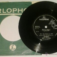 Discos de vinilo: THE BEATLES -SG- ALL YLU NEED IS LOVE OR UK 1967. Lote 47192202