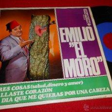 Discos de vinilo: EMILIO EL MORO TRES COSAS (SALUD DINERO Y AMOR)/FALLASTE CORAZON +2 EP 1968 DISCOPHON. Lote 47198579