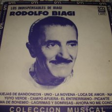 Discos de vinilo: RODOLFO BIAGI - LOS INDISPENSABLES DE BIAGI. Lote 47204725