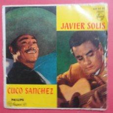 Discos de vinilo: CUCO SANCHEZ, JAVIER SOLIS. SABRAS QUE TE QUIERO.. Lote 47209836
