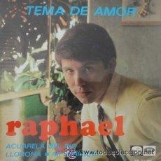 Discos de vinilo: RAPHAEL - TEMA DE AMOR/ACUARELA DEL RIO/LLORONA/MI HERMANO - EP LA VOZ DE SU AMO DE 1967 RF-4655. Lote 47217021