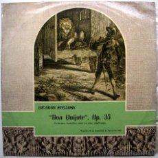 Discos de vinilo: RICARDO STRAUSS - DON QUIJOTE OP. 35 - ORQUESTA DE LA ASOCIACION DE CONCIERTOS CID - LP CID 1960 BPY. Lote 47245246
