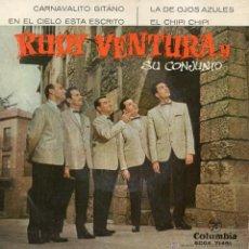 Discos de vinilo: RUDY VENTURA Y SU CONJUNTO, EP, CARNAVALITO GITANO + 3, AÑO 1961. Lote 47252539
