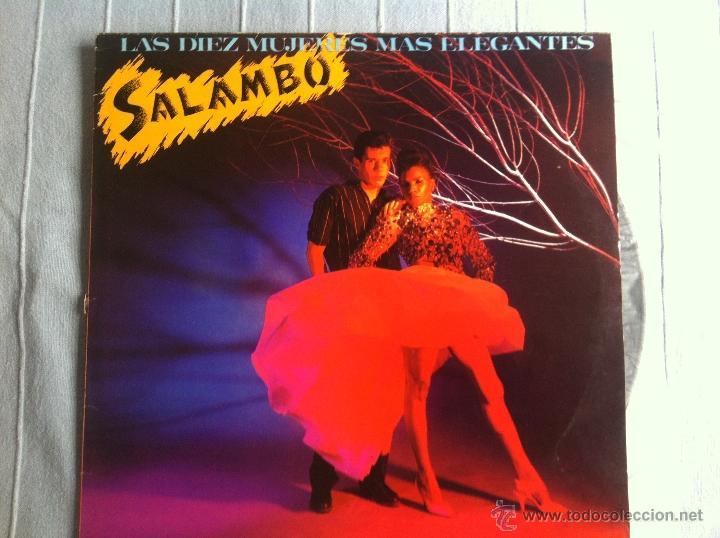 12 MAXI-SALAMBO-LAS DIEZ MUJERES MAS ELEGANTES-PROMO (Música - Discos - LP Vinilo - Grupos Españoles de los 70 y 80)