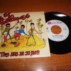 Discos de vinilo: 56 HAMBURGUESAS TRES DIAS DE SU AMOR / ¿POR QUE ME TRATAS ASI? SINGLE VINILO PROMO 1991 ROCKABILLY. Lote 217381540