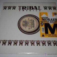 Discos de vinilo: ANGEL MORAES.HEAVEN KNOWS.2 RECORDS SET.TRIBAL AMERICA.(IRS 1995). Lote 47272194