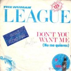 Discos de vinilo: . SIGLE THE HUMAN LEAGUE DON'T YOU WANT ME LOVE ACTION. Lote 47275294