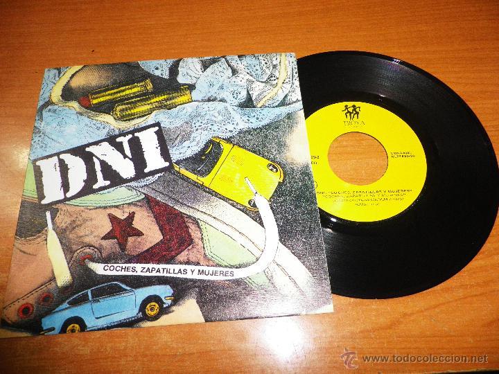 DNI COCHES ZAPATILLAS Y MUJERES SINGLE VINILO 1990 HIP HOP ESPAÑOL MISMO TEMA EN LAS DOS CARAS (Música - Discos - Singles Vinilo - Rap / Hip Hop)
