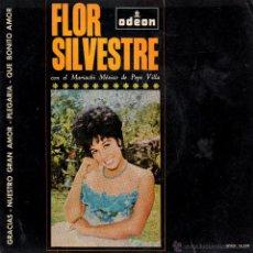 Discos de vinilo - . SINGLE FLOR SILVESTRE CON EL MARIACHI MEXICO DE PEPE VILLA - 47294633