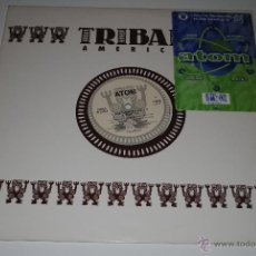 Discos de vinilo: ATOM.3 SLICES OF TRULY GLOBAL HOUSE MUSIC.TRIBAL AMERICA.(IRS 1995).. Lote 47295105