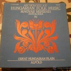 Discos de vinilo: ANTHOLOGY OF HUNGARIAN FOLK MUSIC. CAJA 5 VINILOS. Lote 47305682