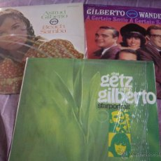 Discos de vinilo: LOTE 3 LPS , UNO DOBLE- JAZZ BOSSA CON LA INCREIBLE VOZ DE ASTRUD GILBERTO. Lote 47317795