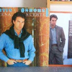 Discos de vinilo: BERTIN OSBORNE - BUENA SUERTE / LP HISPAVOX DE 1985 *****CON ENCARTE+POSTER. Lote 47299526