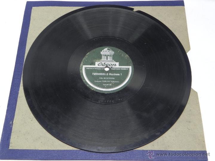 DISCO DE PIZARRA DEL NIÑO MARCHENA, CON GUITARRA DE CARLOS VERDEAL, FANDANGUILLO MARCHENA 1 / 2, ED. (Música - Discos - Singles Vinilo - Clásica, Ópera, Zarzuela y Marchas)
