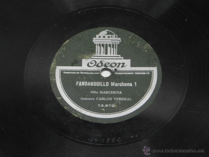Discos de vinilo: DISCO DE PIZARRA DEL NIÑO MARCHENA, CON GUITARRA DE CARLOS VERDEAL, FANDANGUILLO MARCHENA 1 / 2, ED. - Foto 2 - 47321559