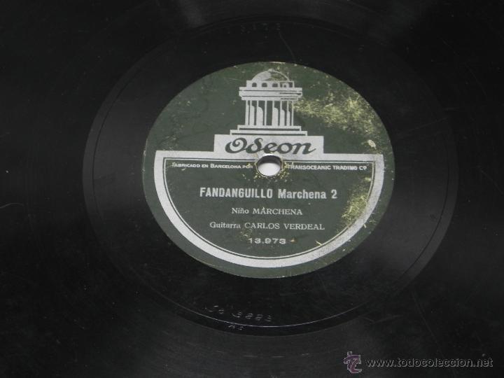 Discos de vinilo: DISCO DE PIZARRA DEL NIÑO MARCHENA, CON GUITARRA DE CARLOS VERDEAL, FANDANGUILLO MARCHENA 1 / 2, ED. - Foto 4 - 47321559