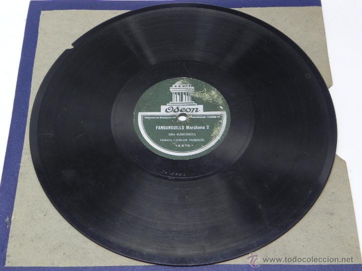 Discos de vinilo: DISCO DE PIZARRA DEL NIÑO MARCHENA, CON GUITARRA DE CARLOS VERDEAL, FANDANGUILLO MARCHENA 1 / 2, ED. - Foto 5 - 47321559