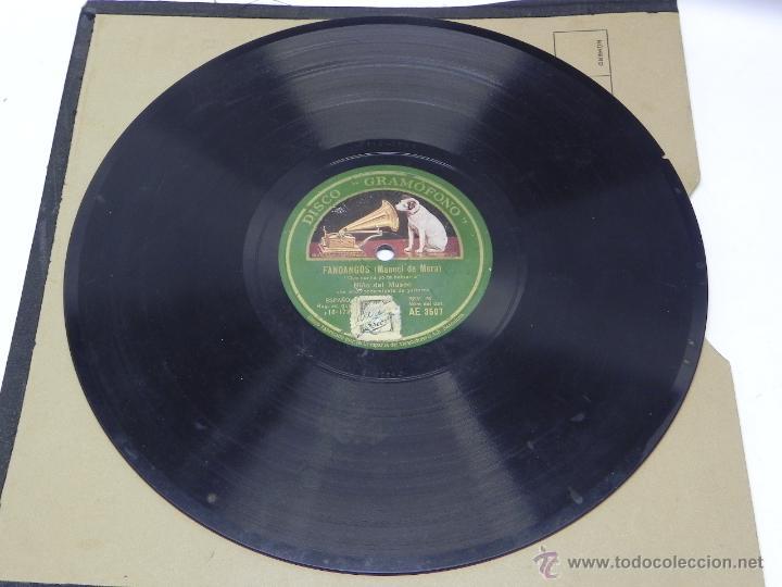 DISCO DE PIZARRA NIÑO DEL MUSEO, FANDANGOS (MANUEL DE MERA), CON ACOMPAÑAMIENTO DE GUITARRA, AE 3507 (Música - Discos - Singles Vinilo - Clásica, Ópera, Zarzuela y Marchas)