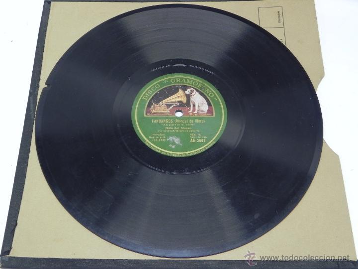 Discos de vinilo: DISCO DE PIZARRA NIÑO DEL MUSEO, FANDANGOS (MANUEL DE MERA), CON ACOMPAÑAMIENTO DE GUITARRA, AE 3507 - Foto 2 - 47321893