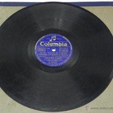 Discos de vinilo: DISCO DE PIZARRA JUANITO VAREA, ACOMPAÑADO A LA GUITARRA POR EL NIÑO RICARDO, YA EL SERENO SE DORMIA. Lote 47322132