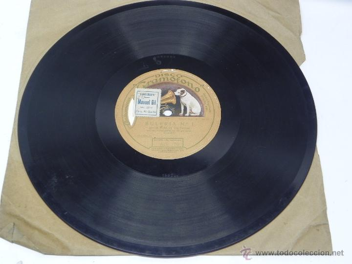 Discos de vinilo: Disco de pizarra La Niña de los Peines, Saeta y Bulería nº 1. Disco Gramófono, La Voz de su amo. AG. - Foto 2 - 47322687