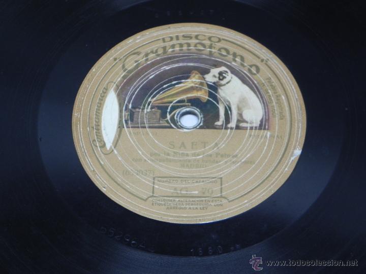 Discos de vinilo: Disco de pizarra La Niña de los Peines, Saeta y Bulería nº 1. Disco Gramófono, La Voz de su amo. AG. - Foto 3 - 47322687