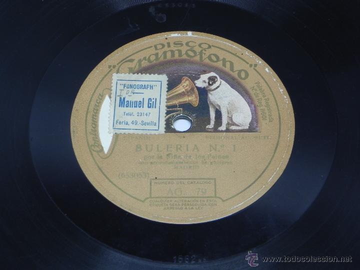 Discos de vinilo: Disco de pizarra La Niña de los Peines, Saeta y Bulería nº 1. Disco Gramófono, La Voz de su amo. AG. - Foto 4 - 47322687