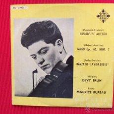 Discos de vinilo: PRELUDIO Y ALLEGRO / TANGO OP. 165, NÚM. 2 / DANZA DE LA VIDA BREVE . Lote 47323820