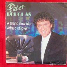 Discos de vinilo: PETER DOUGLAS - A BRAND NEW START. Lote 47325631
