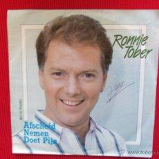 Discos de vinilo: RONNIE TOBER - AFSCHEID NEMEN DOET PIJN . Lote 47325765