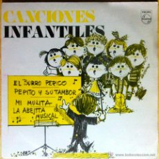 Discos de vinilo: CORO DE LAS ESCUELAS AVEMARIANAS - CANCIONES INFANTILES: EL BURRO PERICO, ETC - EP PROMOCIONAL. Lote 47332448