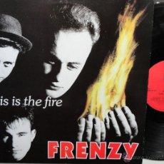 Discos de vinilo: FRENZY THIS IS THE FIRE - UK LP 1989 - PSYCHOBILLY- EXCELENTE ESTADO.. Lote 51568768