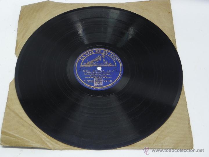 DISCO DE PIZARRA DE GRACIA DE TRIANA, GUITARRA MANOLO DE BADAJOZ, QUÉ BUENA SOY (PELÍCULA ESCUADRILL (Música - Discos - Singles Vinilo - Clásica, Ópera, Zarzuela y Marchas)