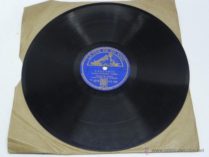 Discos de vinilo: Disco de pizarra de Gracia de Triana, Guitarra Manolo de Badajoz, Qué Buena Soy (Película Escuadrill - Foto 3 - 47335275