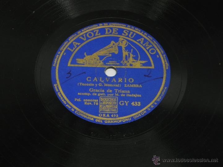 Discos de vinilo: Disco de pizarra de Gracia de Triana, Guitarra Manolo de Badajoz, Qué Buena Soy (Película Escuadrill - Foto 4 - 47335275