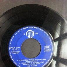Discos de vinilo: THE KINKS (TODOS SERÁN FELICES, ¿QUIÉN SERÁ EL PRÓXIMO?,CANSADO DE ESPERARTE...) 1965. SIN CARPETA. . Lote 47350995