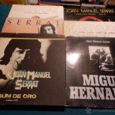 Discos de vinilo: JOAN MANUEL SERRAT-LOTE 10 LP'S-ALBUM ORO+FA 20 ANYS...+ENCONTRE+ANTOLOGIA CATALANA+CADA LOCO+MIGUEL. Lote 47355750